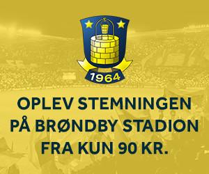 Oplev stemningen p� Br�ndby Stadion fra kun 90 kr.