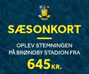 Sæsonkort - Oplev stemningen på Brøndby Stadion fra 675 kr.