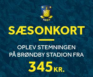 Sæsonkort - Oplev stemningen på Brøndby Stadion fra 495 kr.